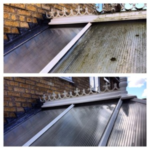 Conservatroy roof before and after